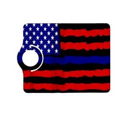 Flag American Line Star Red Blue White Black Beauty Kindle Fire Hd (2013) Flip 360 Case by Mariart