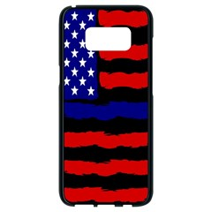 Flag American Line Star Red Blue White Black Beauty Samsung Galaxy S8 Black Seamless Case by Mariart