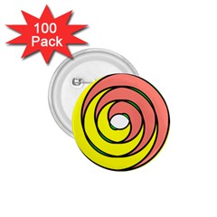Double Spiral Thick Lines Circle 1 75  Buttons (100 Pack)  by Mariart