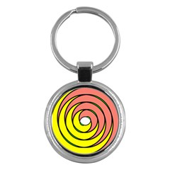 Double Spiral Thick Lines Circle Key Chains (round)  by Mariart