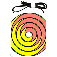 Double Spiral Thick Lines Circle Shoulder Sling Bags by Mariart