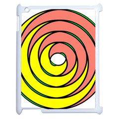 Double Spiral Thick Lines Circle Apple Ipad 2 Case (white) by Mariart