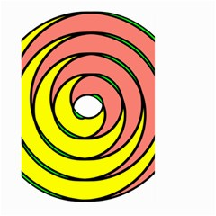 Double Spiral Thick Lines Circle Large Garden Flag (two Sides) by Mariart