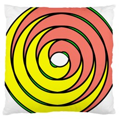 Double Spiral Thick Lines Circle Large Cushion Case (one Side) by Mariart