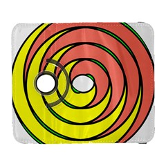Double Spiral Thick Lines Circle Galaxy S3 (flip/folio) by Mariart