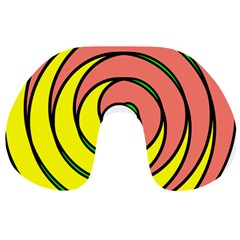 Double Spiral Thick Lines Circle Travel Neck Pillows by Mariart