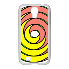Double Spiral Thick Lines Circle Samsung Galaxy S4 I9500/ I9505 Case (white) by Mariart