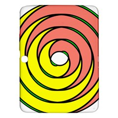 Double Spiral Thick Lines Circle Samsung Galaxy Tab 3 (10 1 ) P5200 Hardshell Case  by Mariart