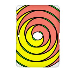 Double Spiral Thick Lines Circle Samsung Galaxy Tab 2 (10 1 ) P5100 Hardshell Case  by Mariart