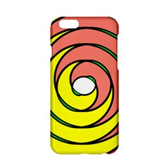 Double Spiral Thick Lines Circle Apple Iphone 6/6s Hardshell Case by Mariart