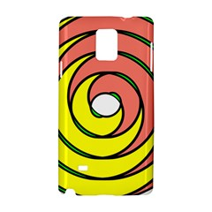 Double Spiral Thick Lines Circle Samsung Galaxy Note 4 Hardshell Case by Mariart