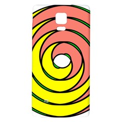Double Spiral Thick Lines Circle Galaxy Note 4 Back Case by Mariart