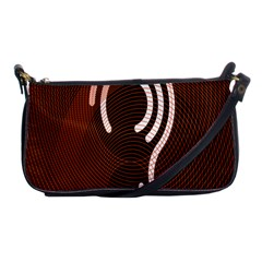 Fan Line Chevron Wave Brown Shoulder Clutch Bags by Mariart