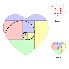 Golden Spiral Logarithmic Color Playing Cards (heart)  by Mariart