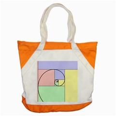 Golden Spiral Logarithmic Color Accent Tote Bag