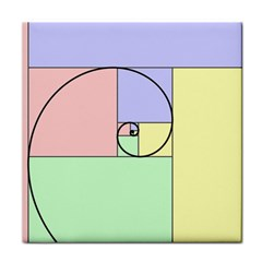 Golden Spiral Logarithmic Color Face Towel by Mariart