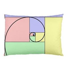 Golden Spiral Logarithmic Color Pillow Case by Mariart