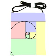 Golden Spiral Logarithmic Color Shoulder Sling Bags by Mariart