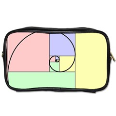 Golden Spiral Logarithmic Color Toiletries Bags 2 Side by Mariart