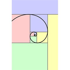 Golden Spiral Logarithmic Color 5 5  X 8 5  Notebooks by Mariart