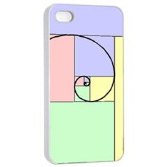 Golden Spiral Logarithmic Color Apple Iphone 4/4s Seamless Case (white) by Mariart