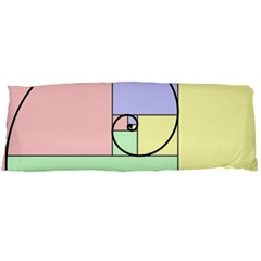 Golden Spiral Logarithmic Color Body Pillow Case Dakimakura (two Sides) by Mariart