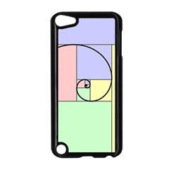 Golden Spiral Logarithmic Color Apple Ipod Touch 5 Case (black) by Mariart