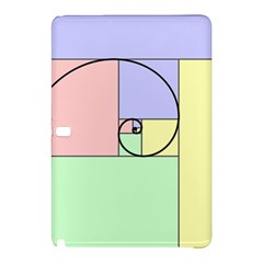 Golden Spiral Logarithmic Color Samsung Galaxy Tab Pro 12 2 Hardshell Case by Mariart