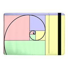 Golden Spiral Logarithmic Color Samsung Galaxy Tab Pro 10 1  Flip Case by Mariart