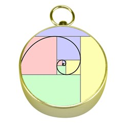 Golden Spiral Logarithmic Color Gold Compasses by Mariart