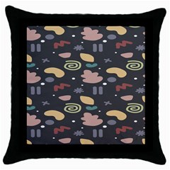 Funky Pattern Polka Wave Chevron Monster Throw Pillow Case (black) by Mariart