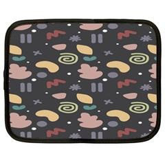 Funky Pattern Polka Wave Chevron Monster Netbook Case (xxl)  by Mariart
