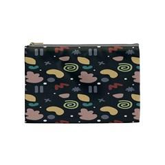 Funky Pattern Polka Wave Chevron Monster Cosmetic Bag (medium)  by Mariart