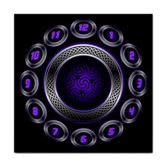 Digital Celtic Clock Template Time Number Purple Tile Coasters by Mariart