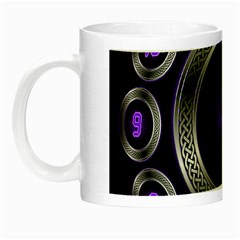 Digital Celtic Clock Template Time Number Purple Night Luminous Mugs by Mariart