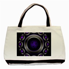 Digital Celtic Clock Template Time Number Purple Basic Tote Bag by Mariart