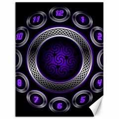 Digital Celtic Clock Template Time Number Purple Canvas 18  X 24   by Mariart