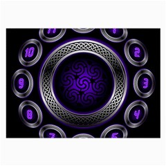 Digital Celtic Clock Template Time Number Purple Large Glasses Cloth by Mariart