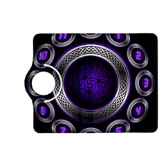 Digital Celtic Clock Template Time Number Purple Kindle Fire Hd (2013) Flip 360 Case by Mariart