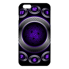 Digital Celtic Clock Template Time Number Purple Iphone 6 Plus/6s Plus Tpu Case by Mariart