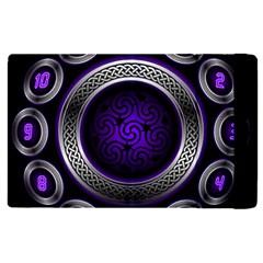 Digital Celtic Clock Template Time Number Purple Apple Ipad Pro 9 7   Flip Case by Mariart