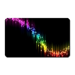 Illustration Light Space Rainbow Magnet (rectangular) by Mariart