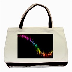 Illustration Light Space Rainbow Basic Tote Bag by Mariart