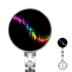Illustration Light Space Rainbow Stainless Steel Nurses Watch by Mariart
