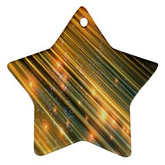 Golden Blue Lines Sparkling Wild Animation Background Space Ornament (star) by Mariart