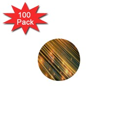 Golden Blue Lines Sparkling Wild Animation Background Space 1  Mini Buttons (100 Pack)  by Mariart