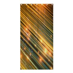 Golden Blue Lines Sparkling Wild Animation Background Space Shower Curtain 36  X 72  (stall)  by Mariart