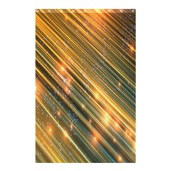 Golden Blue Lines Sparkling Wild Animation Background Space Shower Curtain 48  X 72  (small)  by Mariart