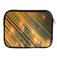 Golden Blue Lines Sparkling Wild Animation Background Space Apple Ipad 2/3/4 Zipper Cases by Mariart