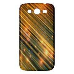 Golden Blue Lines Sparkling Wild Animation Background Space Samsung Galaxy Mega 5 8 I9152 Hardshell Case  by Mariart